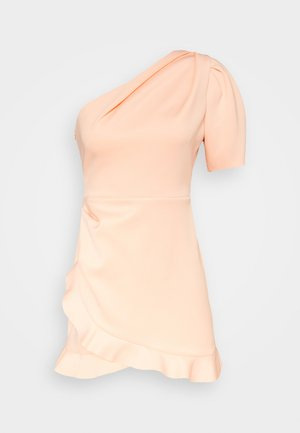 ONE SHOULDER SCUBA DRESS - Vestido de cóctel - peach