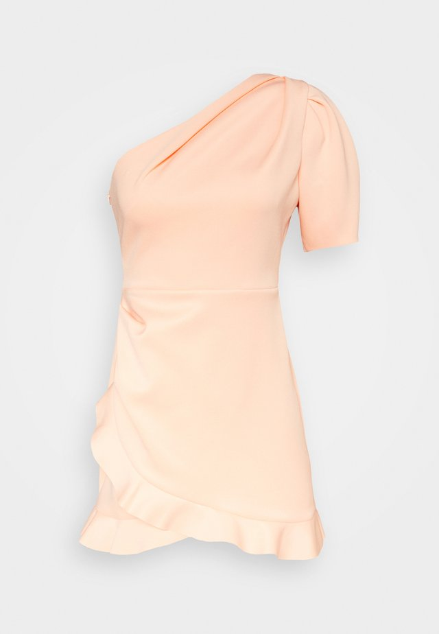 ONE SHOULDER SCUBA DRESS - Cocktail dress / Party dress - peach