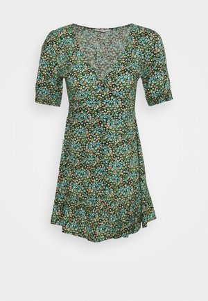 LUCY BUTTON DOWN TEA DRESS - Vestido informal - blue