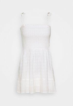 TEXTURED SUN DRESS - Day dress - ivory