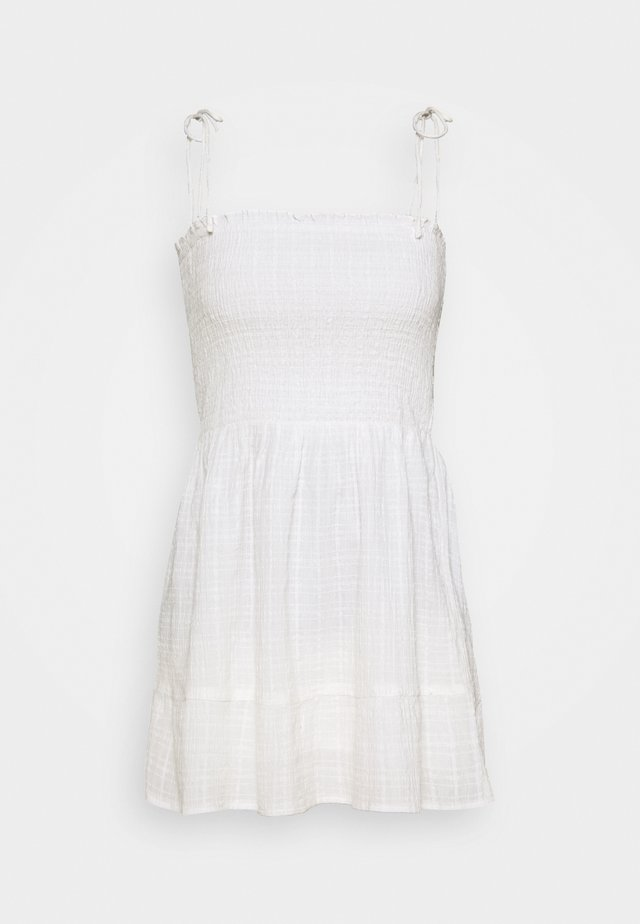 TEXTURED SUN DRESS - Vestito estivo - ivory