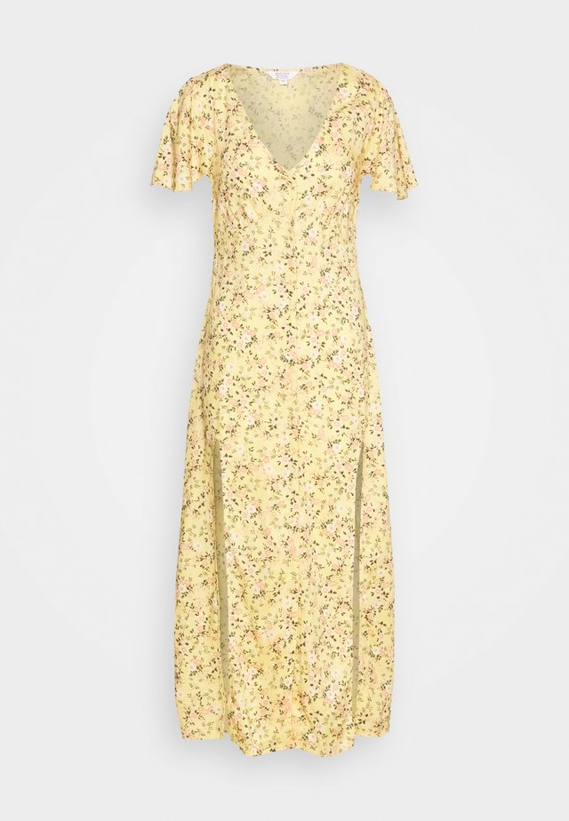LUCY BUTTON DOWN MAXI DRESS - Maxi dress - yellow