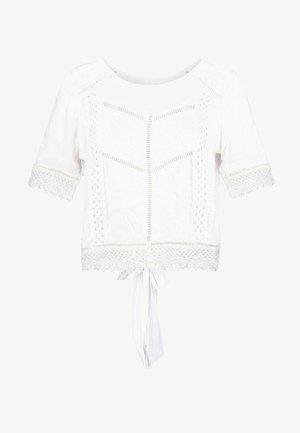 TRIM TEE - Printtipaita - white