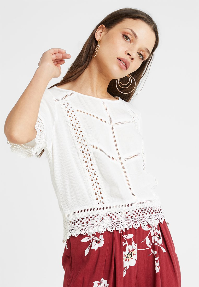 Miss Selfridge Petite - TRIM TEE - T-shirts print - white