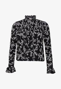 Miss Selfridge Petite - SHIRRED HIGH NECK - Long sleeved top - black - 3