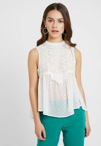 Miss Selfridge Petite - VICTORIANA SLEEVELESS - Blouse - cream - 0