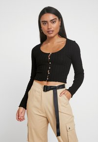 Miss Selfridge Petite - LONG SLEEVE BUTTON - Kofta - black - 0