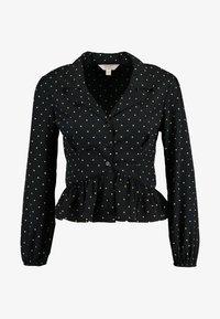 Miss Selfridge Petite - SPOT PEPLUM - Skjorte - black - 4
