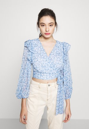 WRAP DETAIL BLOUSE - Blouse - blue