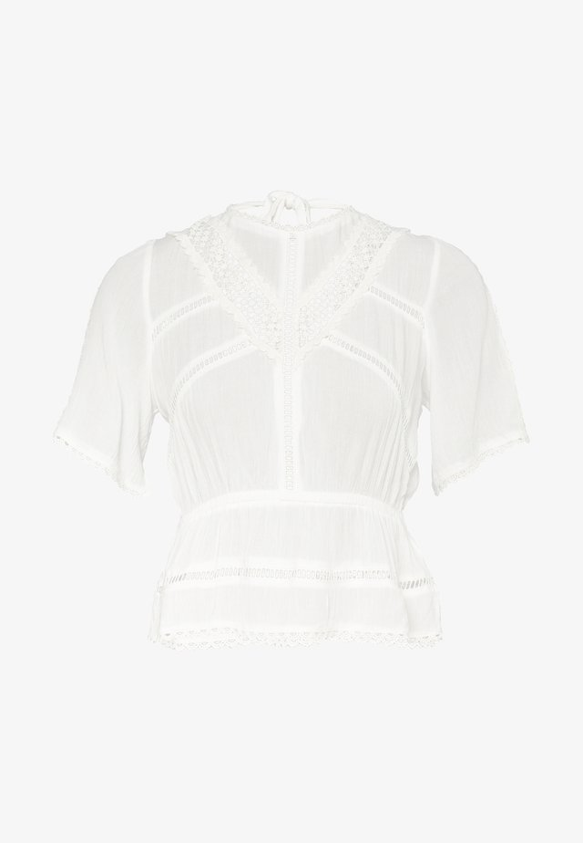 TRIM TEE - Blouse - white