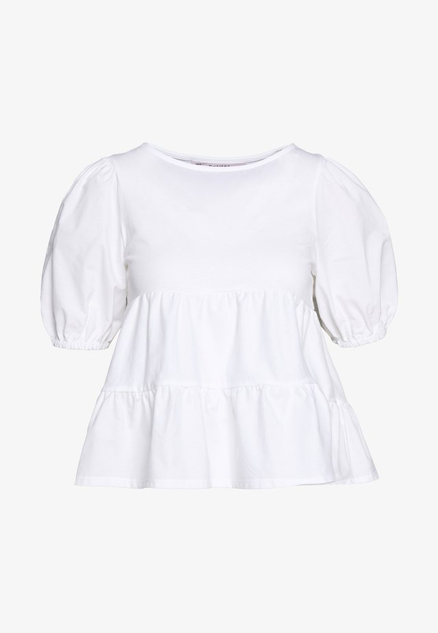 POPLIN TIERRED - Blouse - white