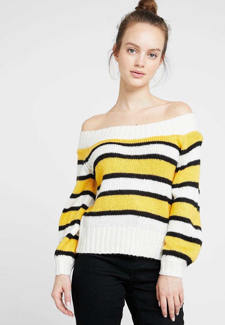 Miss Selfridge Petite - BOLD STRIPE JUMPER - Jumper - yellow