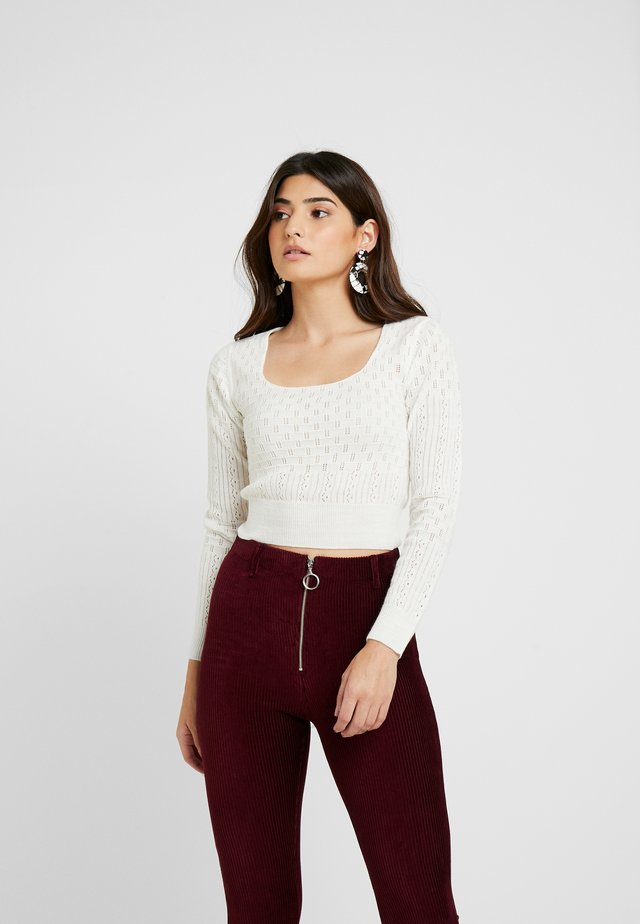 POINTELLE JUMPER - Jumper - white