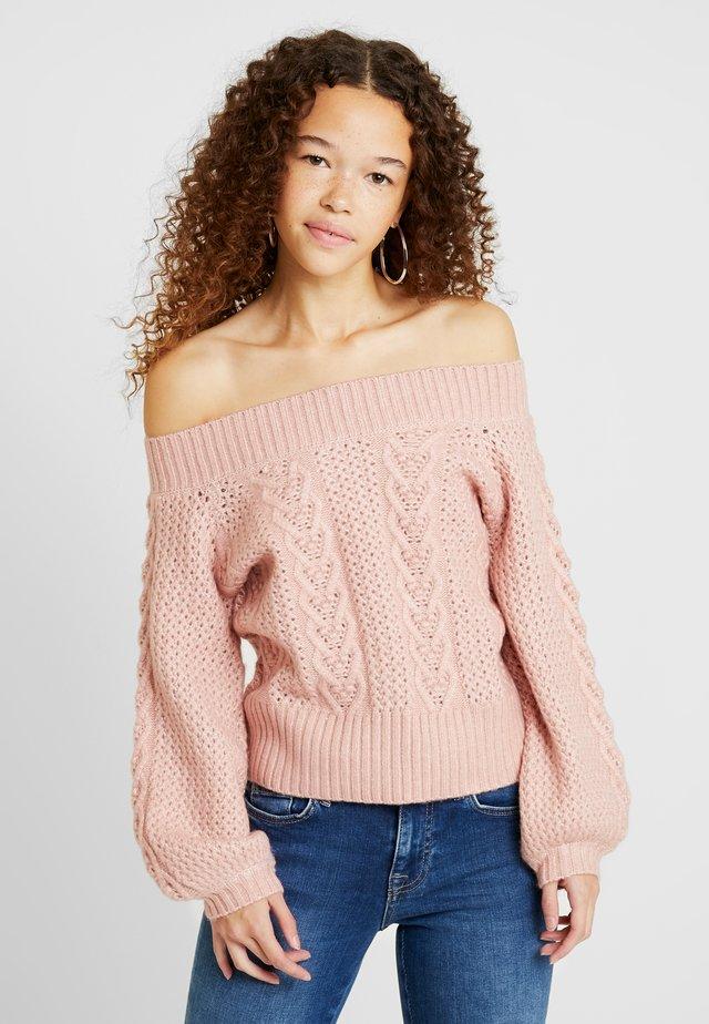 BARDOT CABLE JUMPER - Stickad tröja - pink