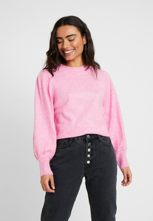 ROUND NECK BALLOON JUMPER - Jumper - pink