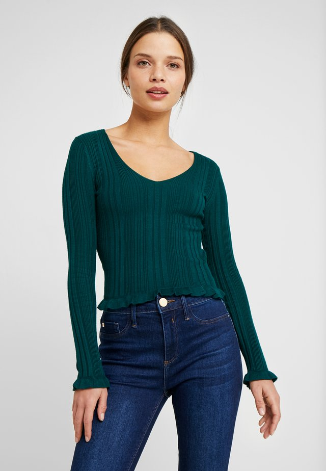 NECK JUMPER - Jersey de punto - green