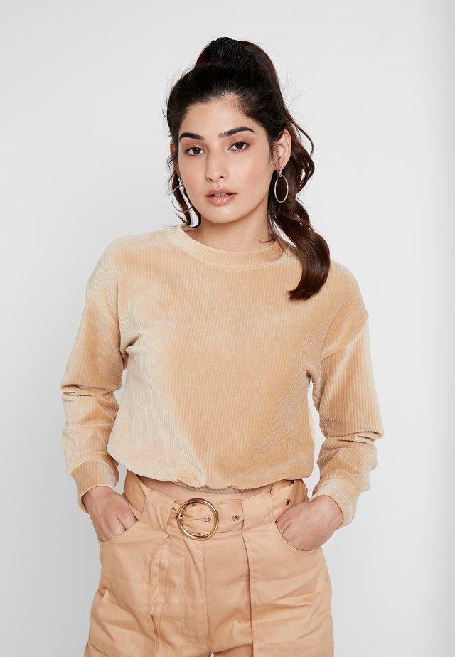 DRAWSTRING - Sweatshirt - camel