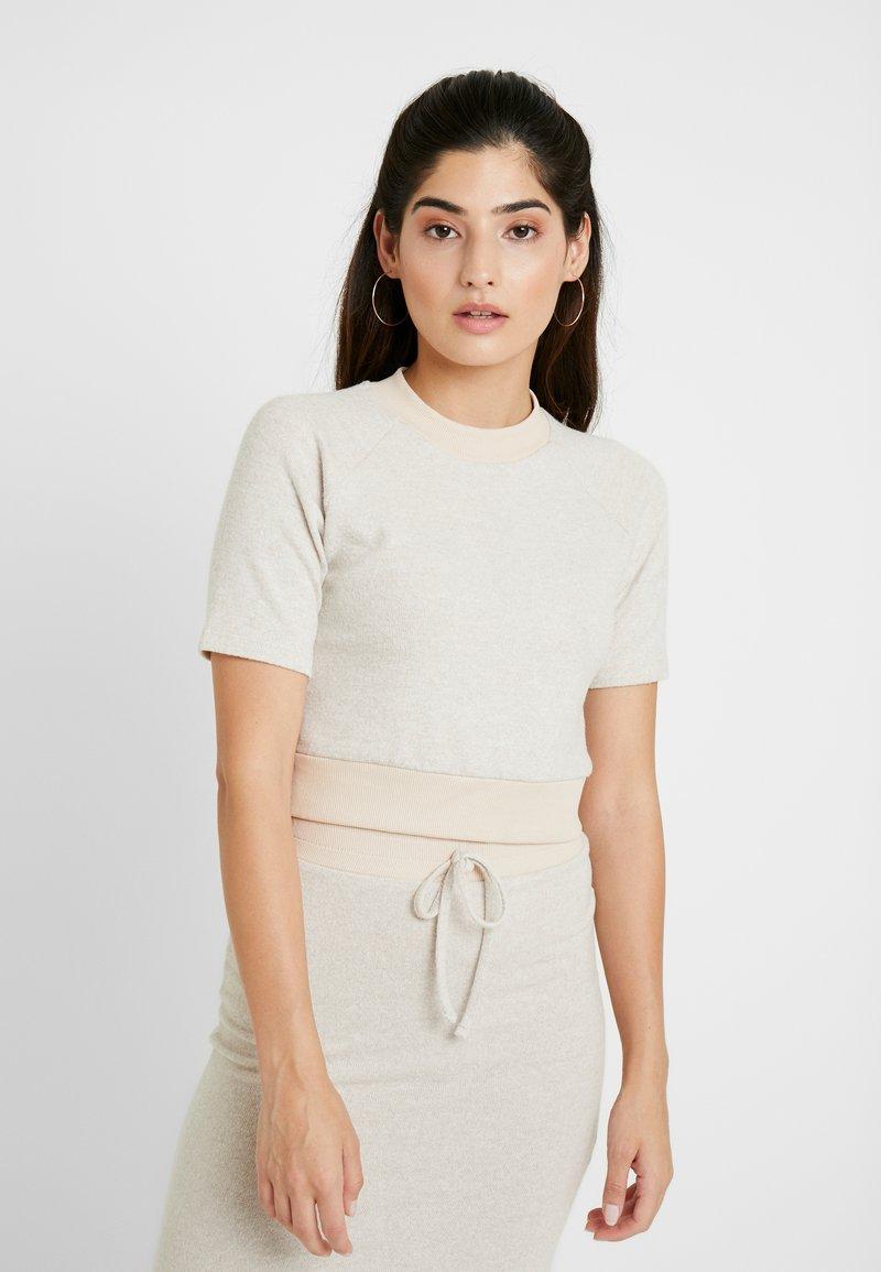 Miss Selfridge Petite - BRUSHED FABRIC - T-shirts basic - oatmeal