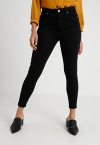 Miss Selfridge Petite - LIZZIE - Jeans Skinny Fit - black - 0