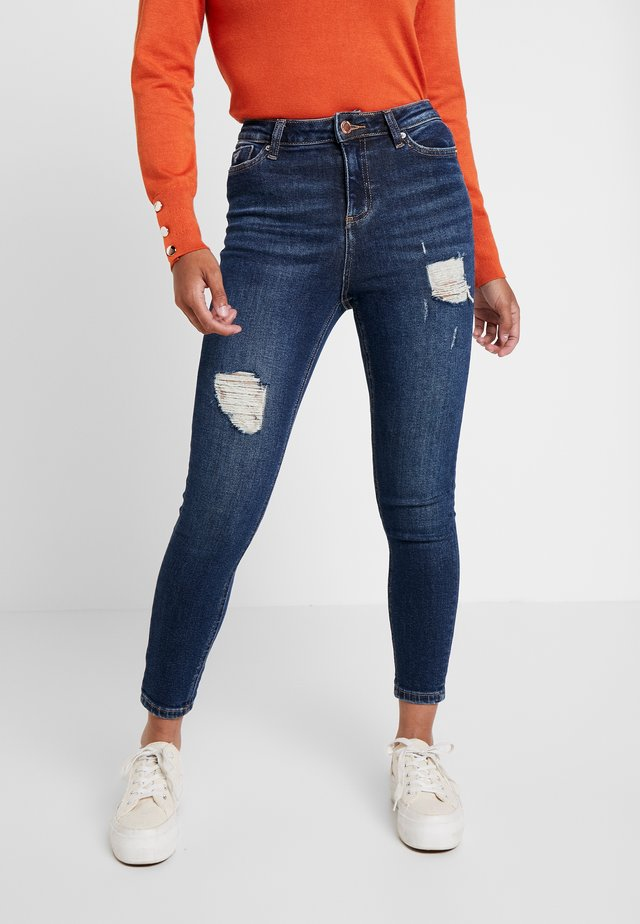 LIZZIE - Jeans Skinny Fit - dark blue denim