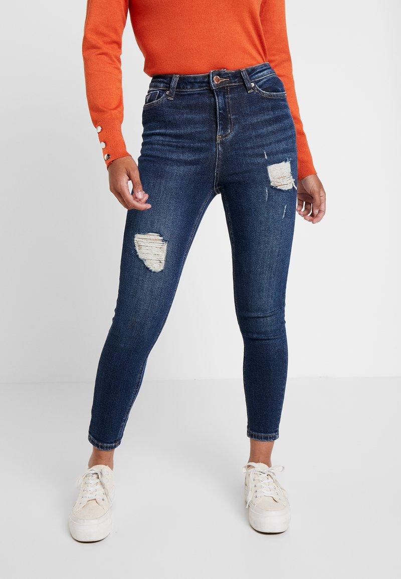 Miss Selfridge Petite - LIZZIE - Jeans Skinny Fit - dark blue denim