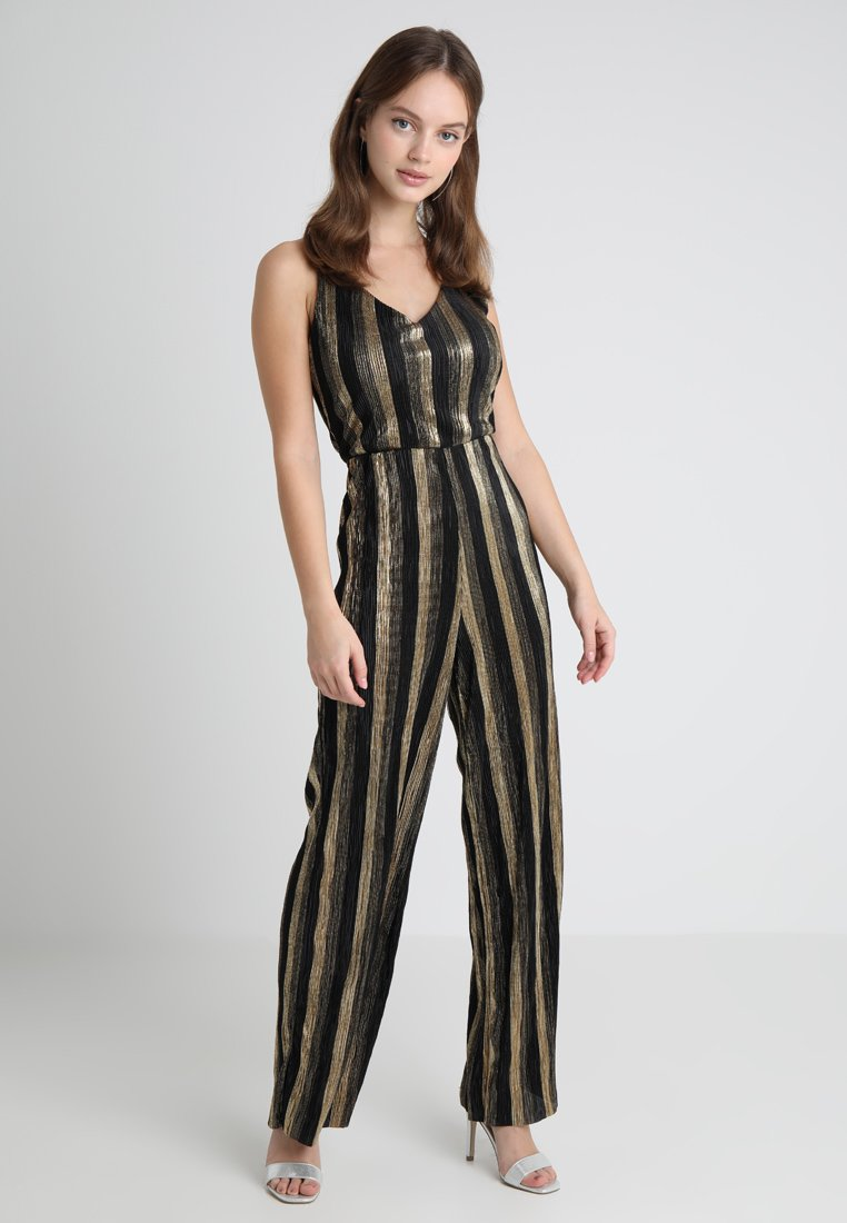 Miss Selfridge Petite - STRIPE PLISSE - Jumpsuit - gold