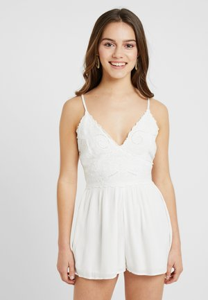 EMBROIDED - Jumpsuit - white