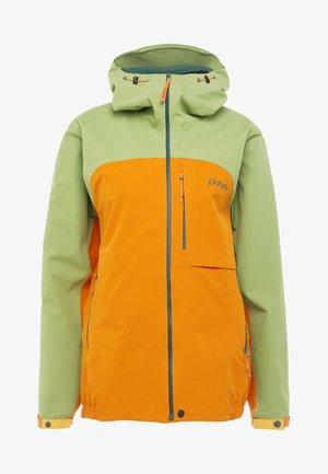 GORGE - Ski jacket - pistachio green/fox orange