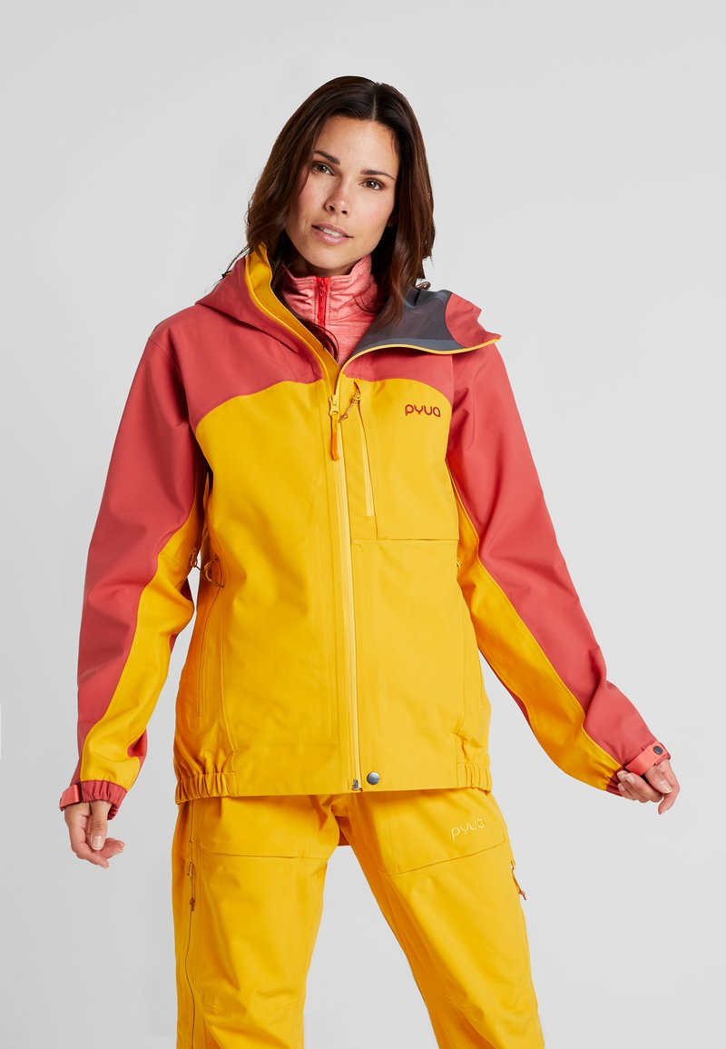 PYUA - GORGE - Skijakke - dark rose/pumpkin yellow
