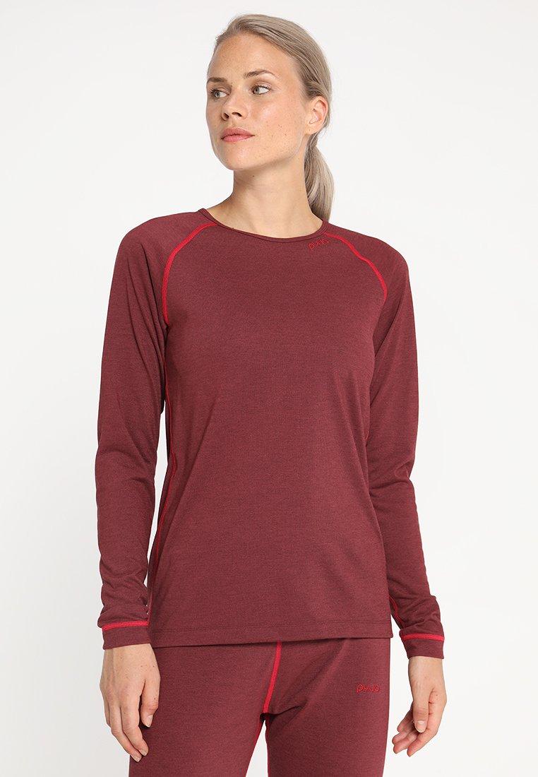 PYUA - PERK - Undershirt - burgundy melange