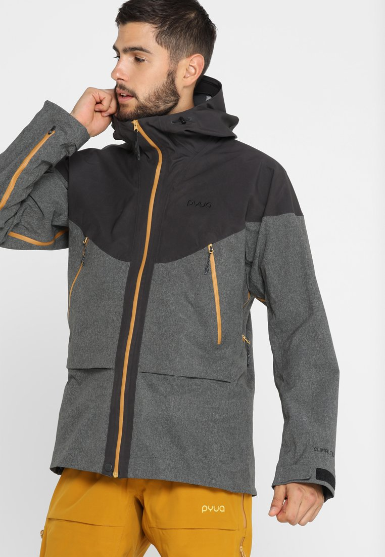 PYUA - GORGE - Skijacke - almost black/grey melange