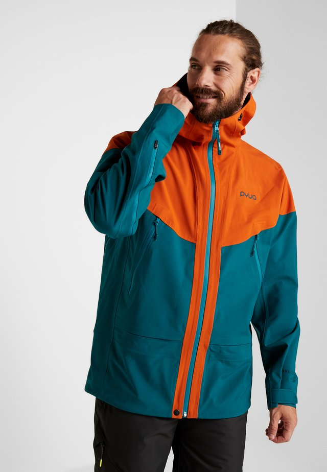 GORGE - Snowboard jacket - rusty orange/petrol blue