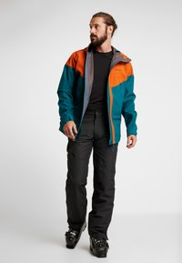 PYUA - GORGE - Snowboard jacket - rusty orange/petrol blue - 1
