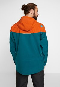 PYUA - GORGE - Snowboard jacket - rusty orange/petrol blue - 2
