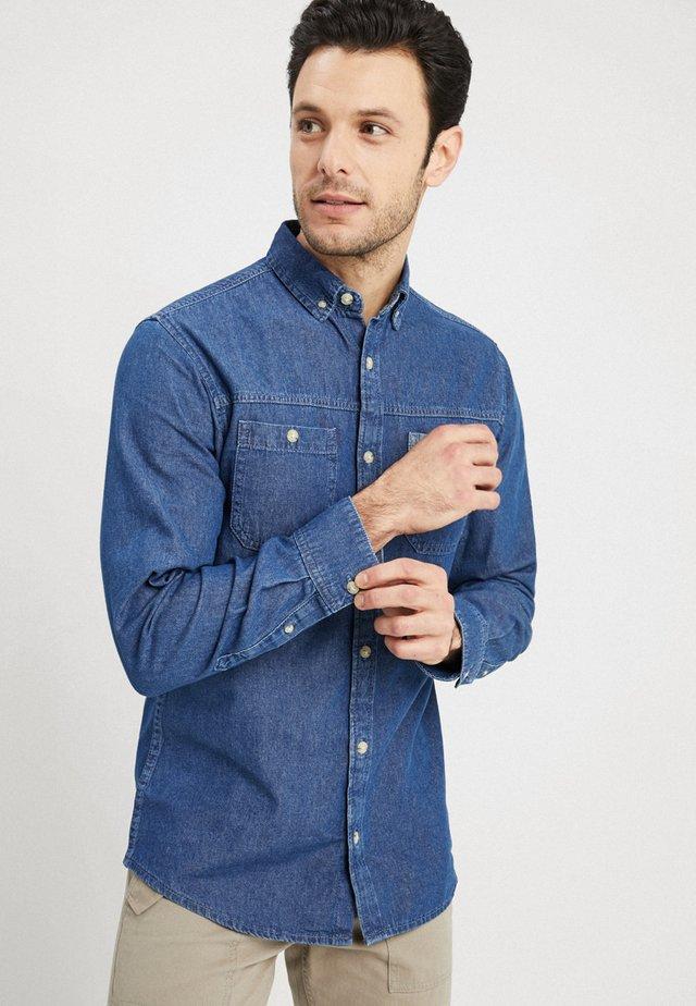 BEAR WORKER - Skjorta - medium blue denim