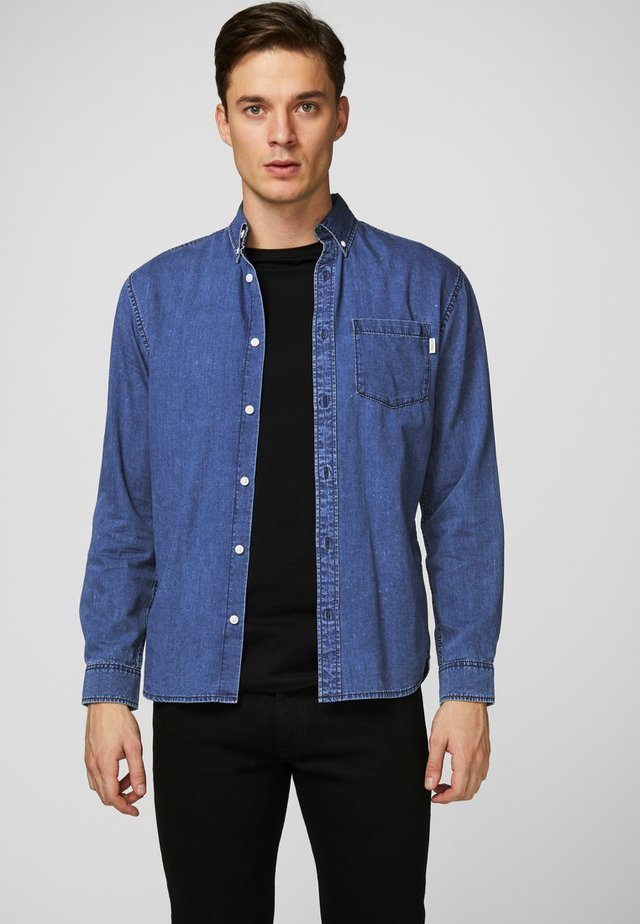 Hemd - medium blue denim