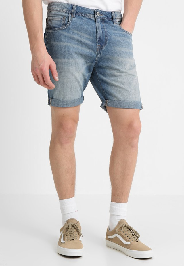 PKTAKM - Denim shorts - light blue denim