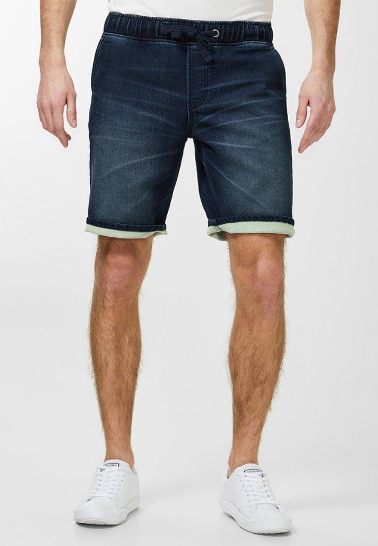Produkt - Denim shorts - medium blue denim