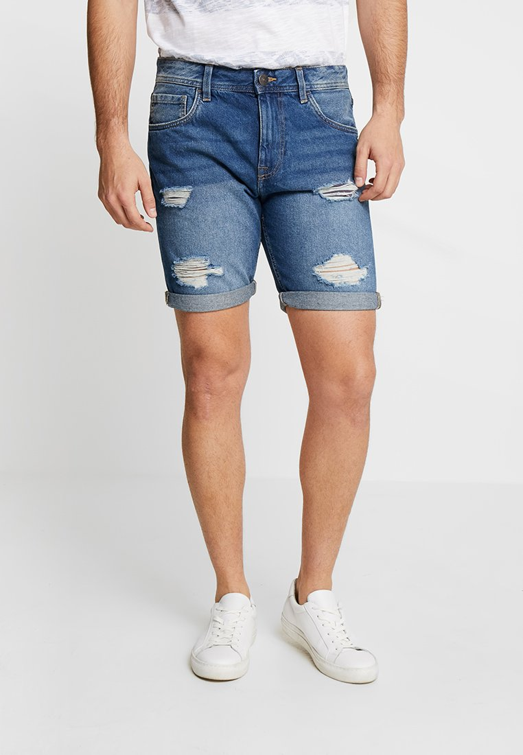 Produkt - PKTAKM - Denim shorts - medium blue denim