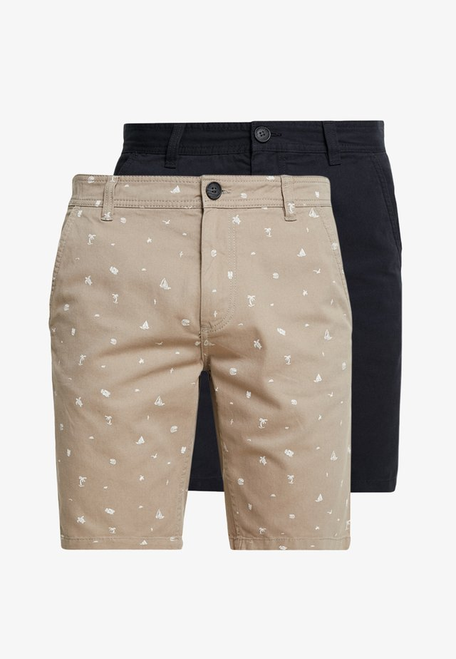 PKTAKM MIX  2 PACK - Shorts - dark navy/roasted cashe