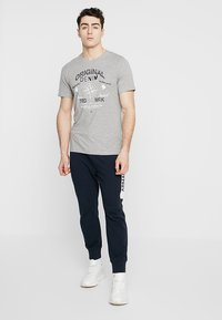 Produkt - AUTHENTIC TEE - T-shirt z nadrukiem - light grey melange - 1