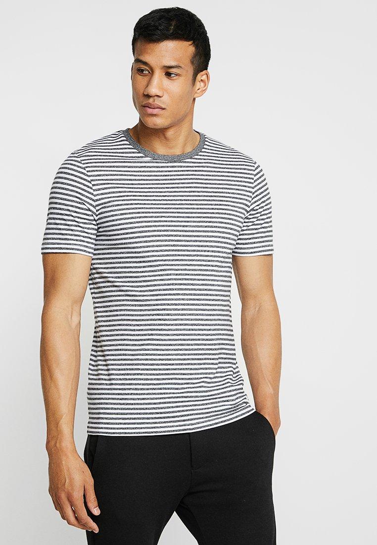 Produkt - DELIGHT STRIPE TEE - T-shirt med print - dark grey melange
