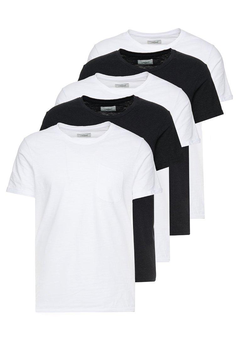 Produkt - PKTGMS CREW TEE 5 PACK - Basic T-shirt - white/black
