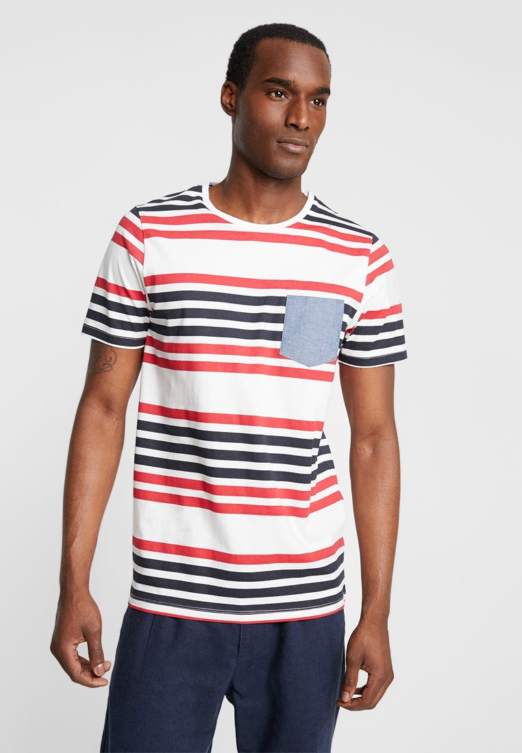 Produkt - PKTGMS TWIN STRIPE TEE - Print T-shirt - american beauty