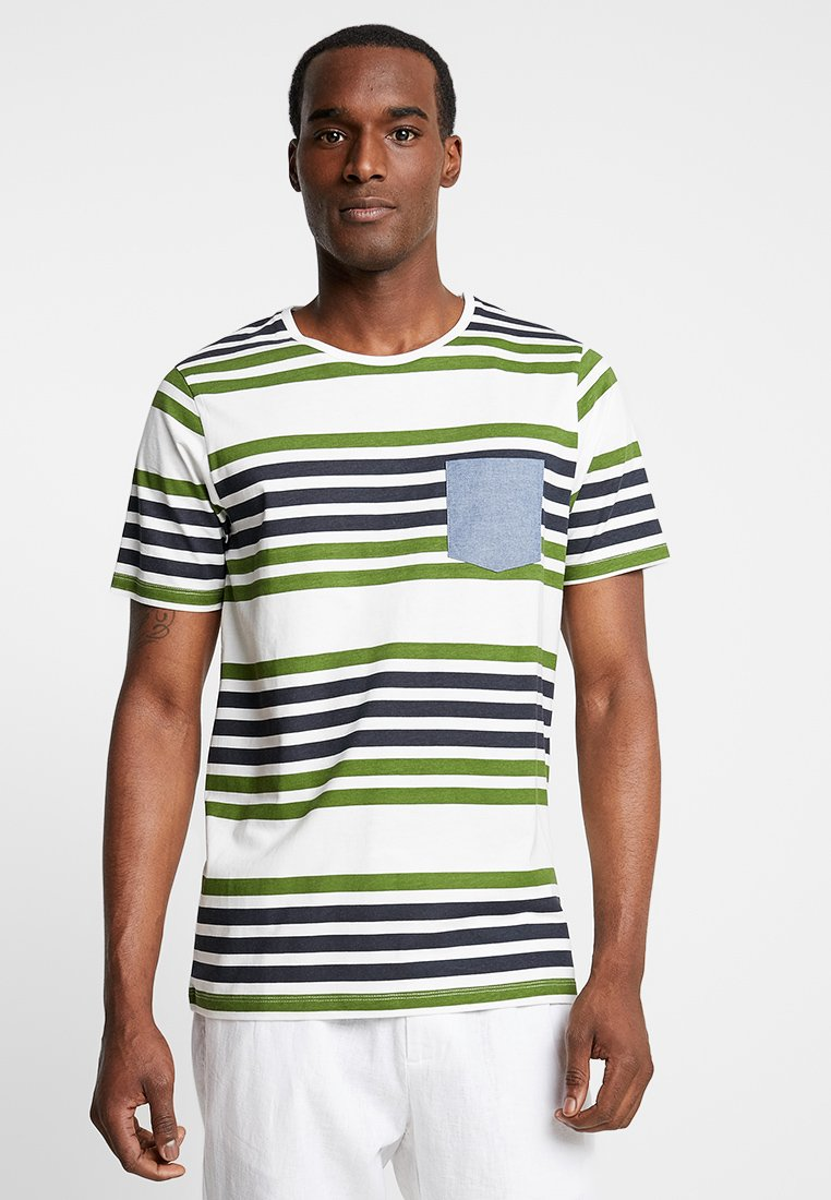 Produkt - PKTGMS TWIN STRIPE TEE - Camiseta estampada - garden green
