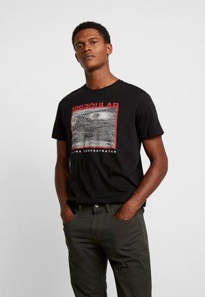 PKTAUK STONE TEE - T-Shirt print - black