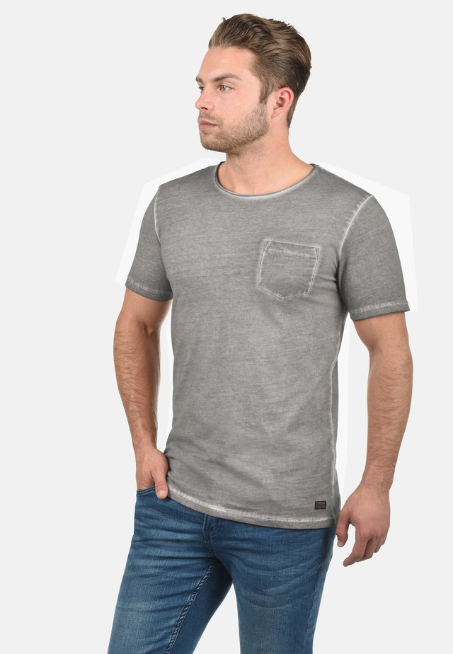 RUNDHALSSHIRT PANCHO - Basic T-shirt - grey