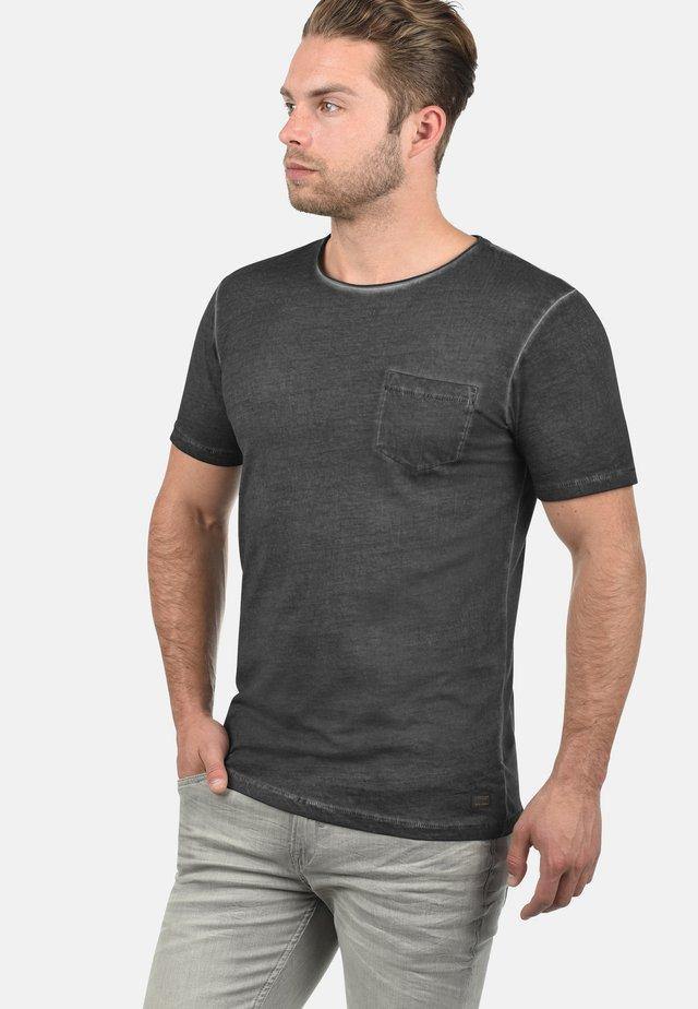 RUNDHALSSHIRT PANCHO - Basic T-shirt - black