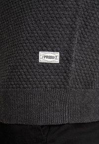 Produkt - PKTHNN  - Sweter - dark grey melange - 5