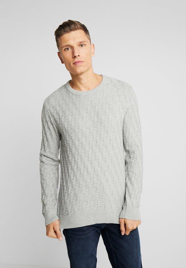 CHARLIE - Stickad tröja - light grey melange